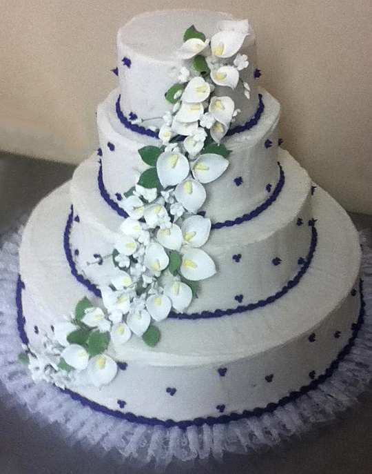 Purple Polka Dot Cake
